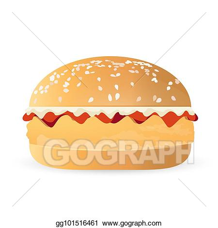Stock illustration bacon and. Burger clipart chicken burger