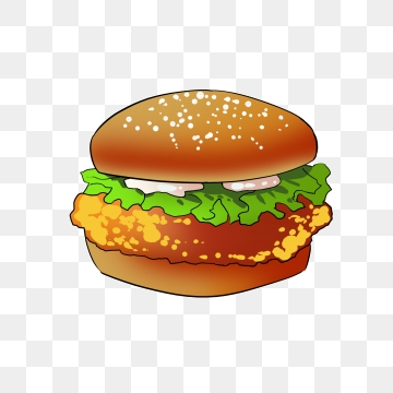 Burger clipart chicken burger. Png images vector and