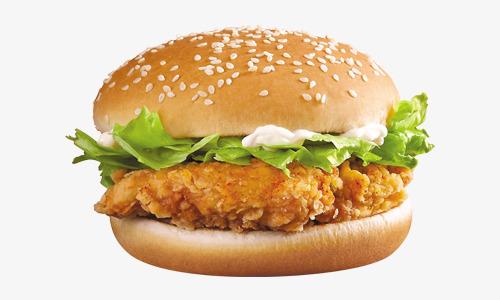 Hamburger fast food png. Burger clipart chicken burger