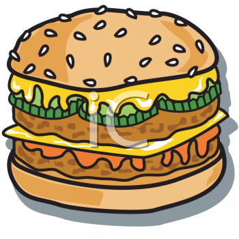 Food picture of a. Burger clipart chicken meat