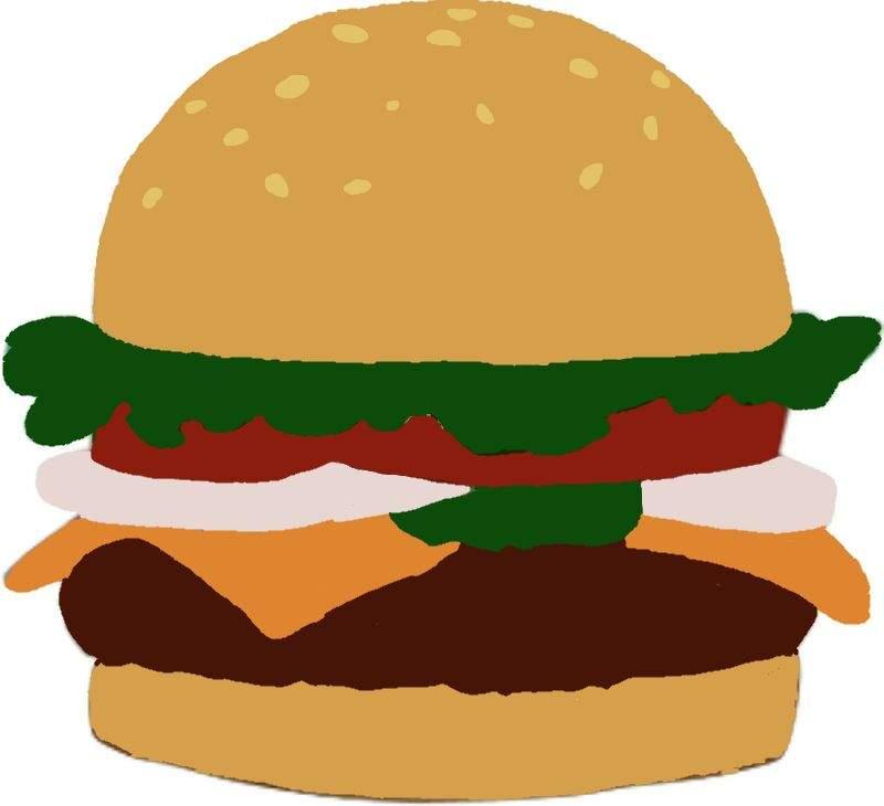Burger clipart chicken patty. Krabby spongebob squarepants amino
