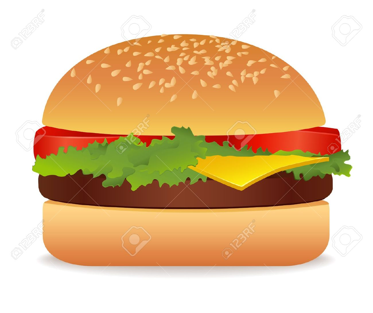 burger clipart clear background