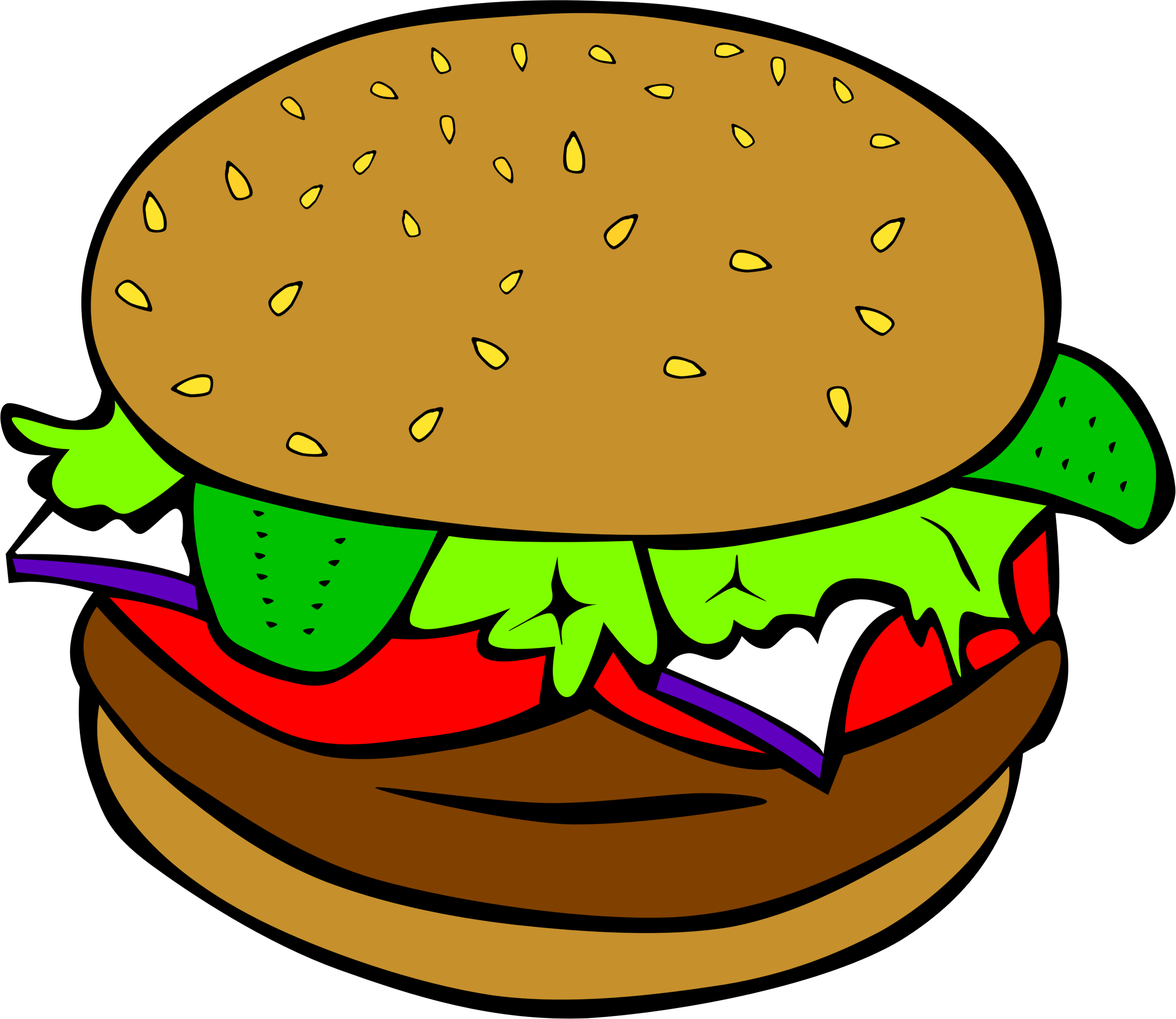 Burger diner food pencil. Onion clipart animated