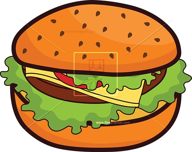 Burger clipart clip art. Free vectors illustrations graphics