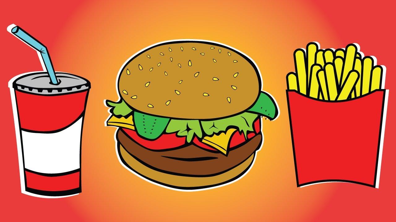 Draw color paint soft. Burger clipart colored