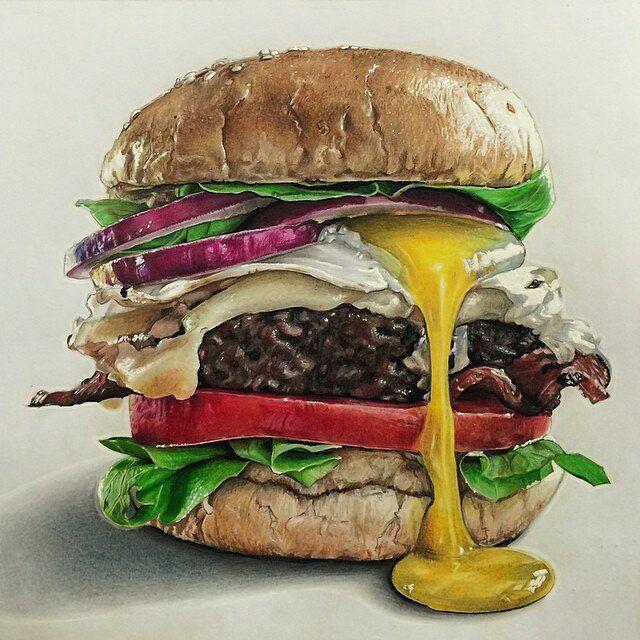Risultati immagini per pencils. Burger clipart colored