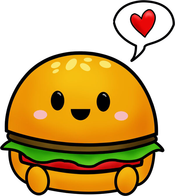 collection of drawing. Burger clipart cute