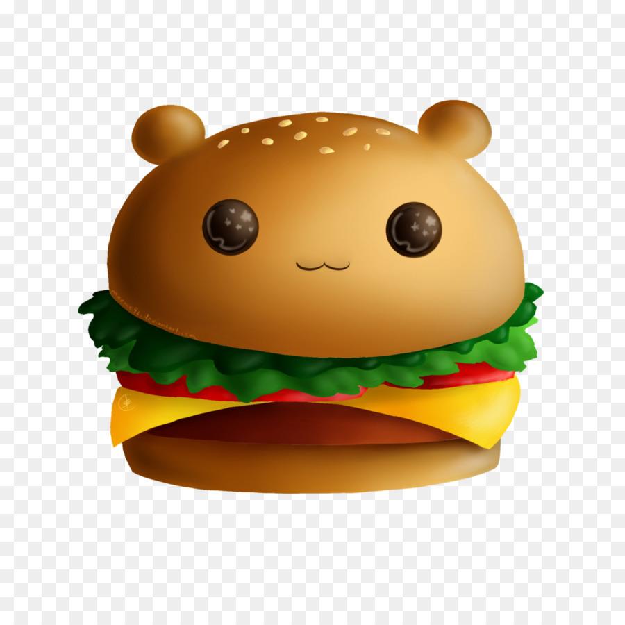 Cartoon hamburger sandwich food. Burger clipart cute