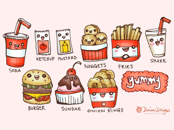 And fries commercial use. Burger clipart cute