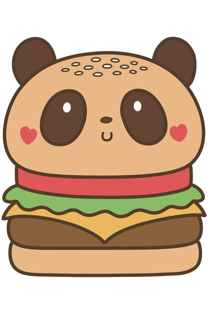Products panduhmonium image of. Burger clipart cute