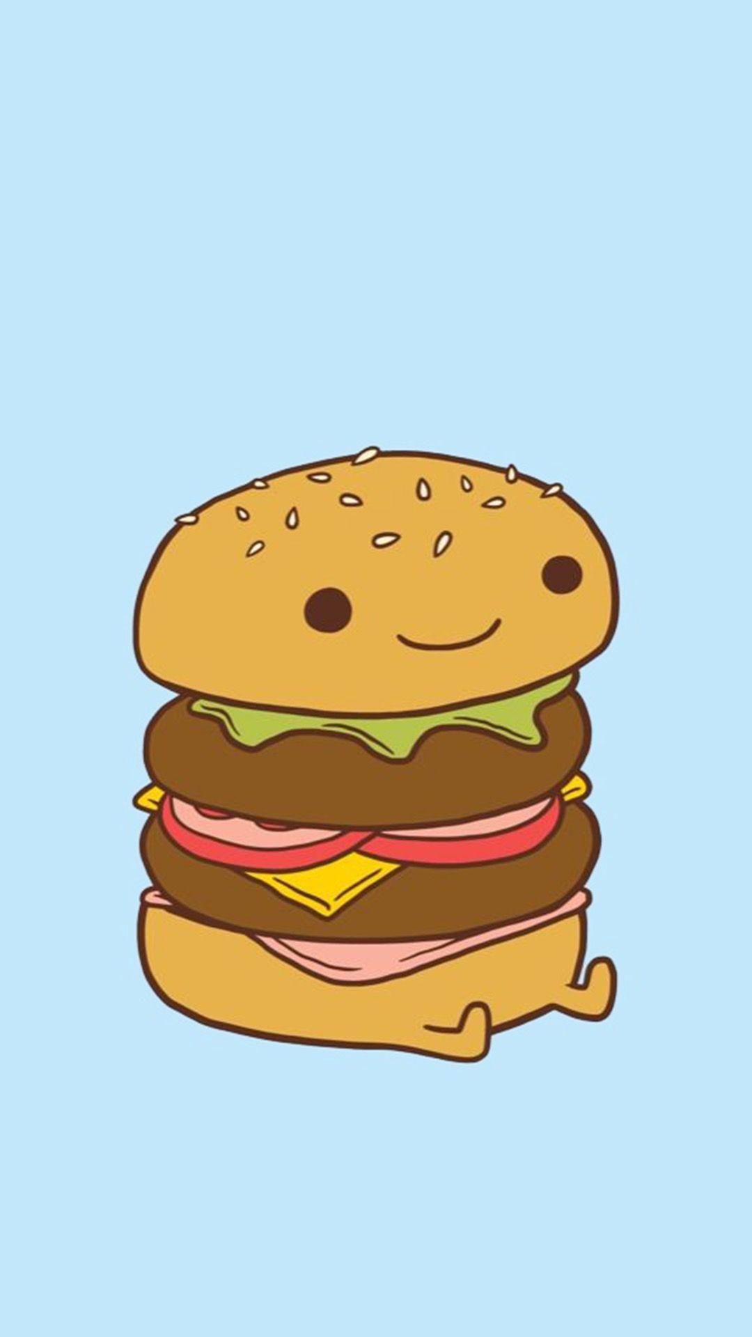 Burger clipart cute. Da my first pinterest