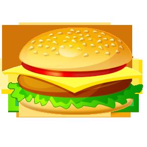 burger clipart cute