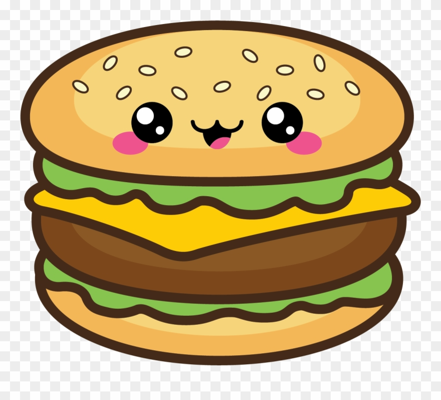 Burger clipart cute. Bbq pinclipart