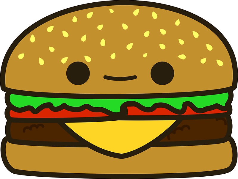 Free download on jpg. Burger clipart cute