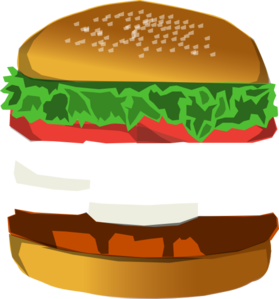 With space clip art. Burger clipart deconstructed
