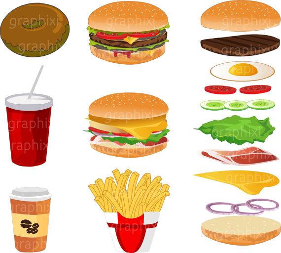 Vector commercial ilxn. Burger clipart digital