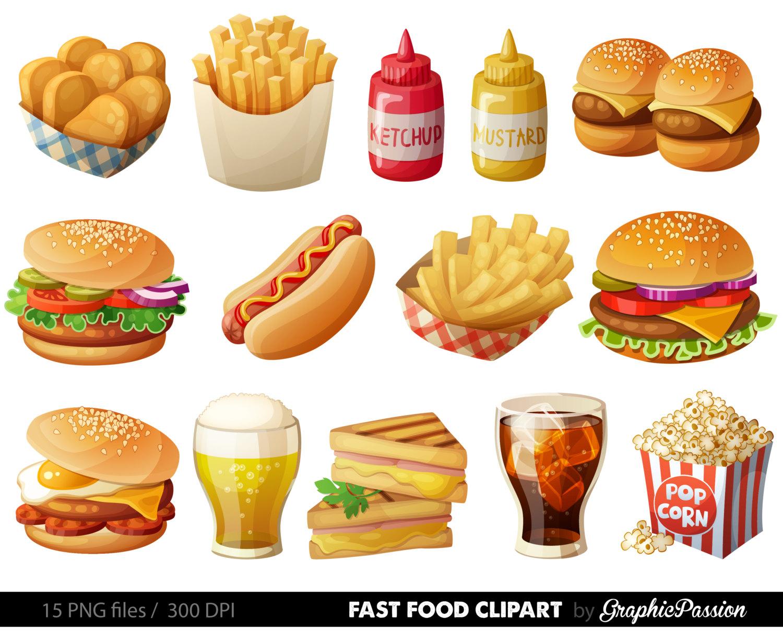 Fast food hamburger clip. Burger clipart digital