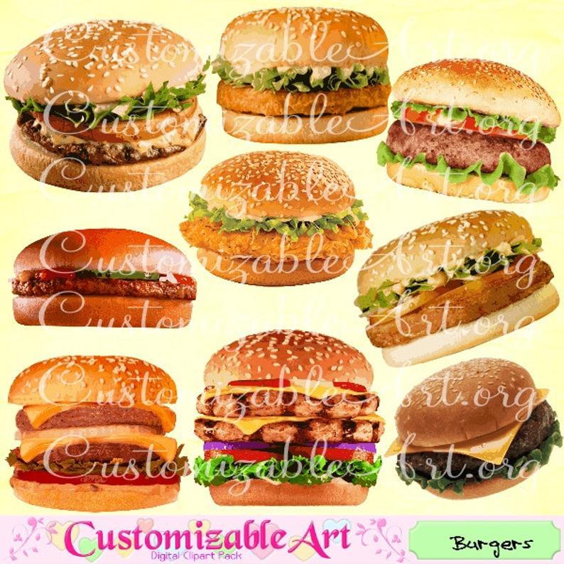 Burgers clip art hamburger. Burger clipart digital