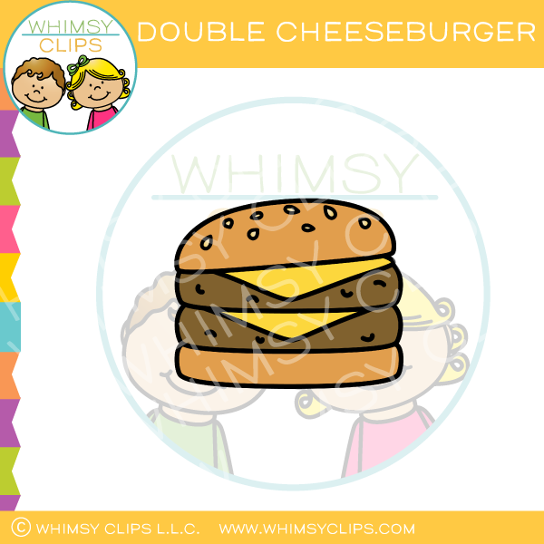 Cheeseburger clipart double cheeseburger. Clip art images illustrations