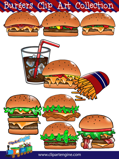 burger clipart double cheeseburger