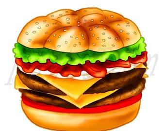 Etsy off burger clip. Cheeseburger clipart double cheeseburger
