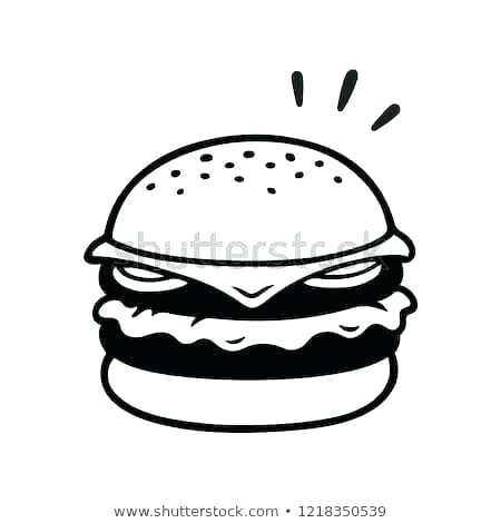 Burger clipart easy. How to draw a