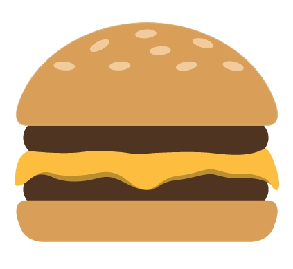collection of simple. Burger clipart easy