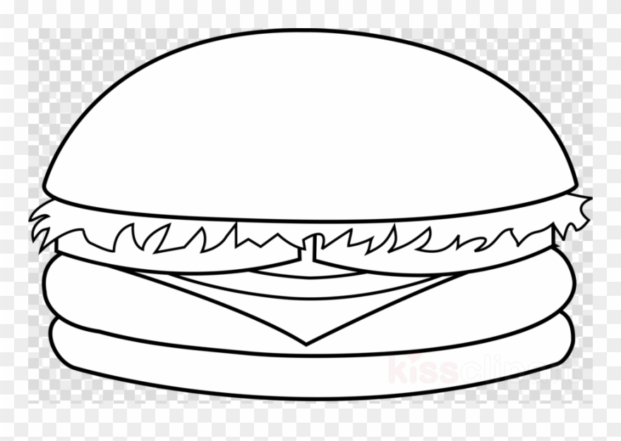 Burger clipart easy. Cheeseburger black and white