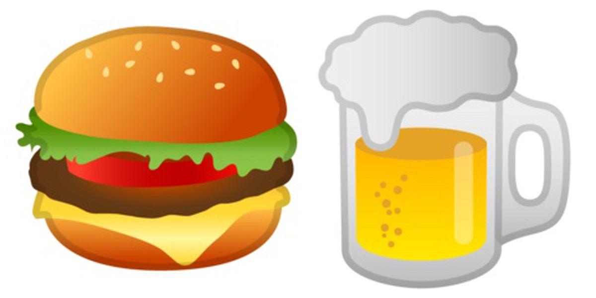 Google is fixing its. Burger clipart emoji