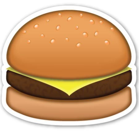 The definitive guide to. Burger clipart emoji