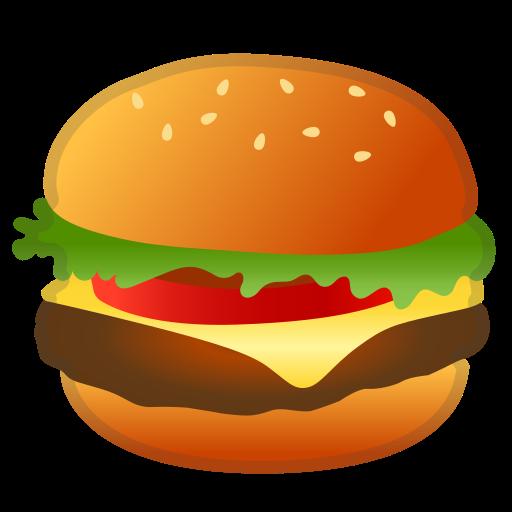 Burger clipart emoji. Hamburger food icon free