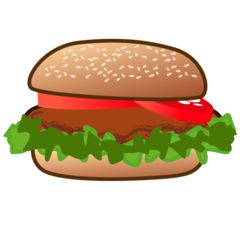best the great. Burger clipart emoji