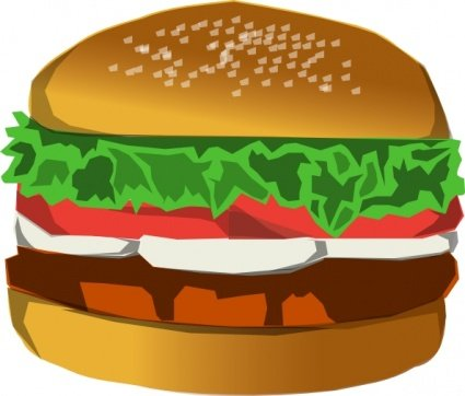 Free and vector graphics. Burger clipart eye
