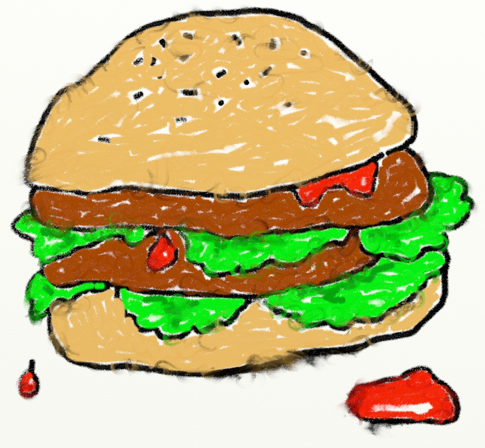 Burger clipart face. Double free collection download