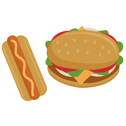 Hamburger clipart bbq food. Burger hotdog pencil and