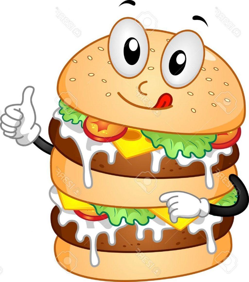 Double . Burger clipart face