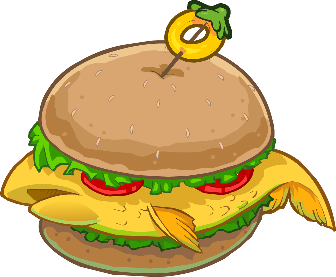 Burgers and penguins club. Burger clipart fish