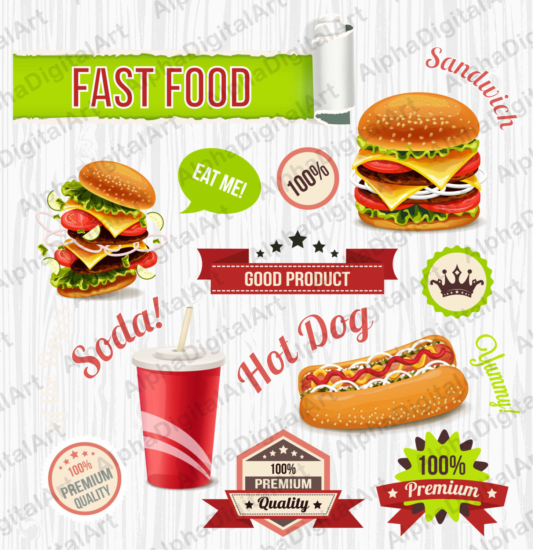 Burger clipart frame.  fast food sandwich