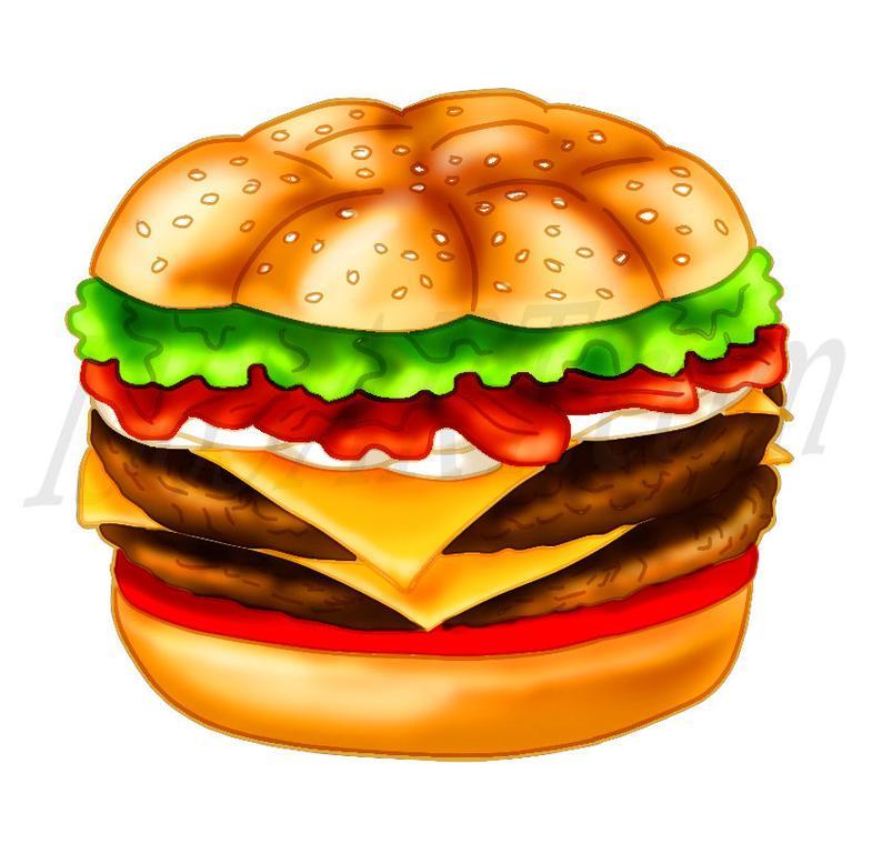 Burger clipart frame.  off clip art