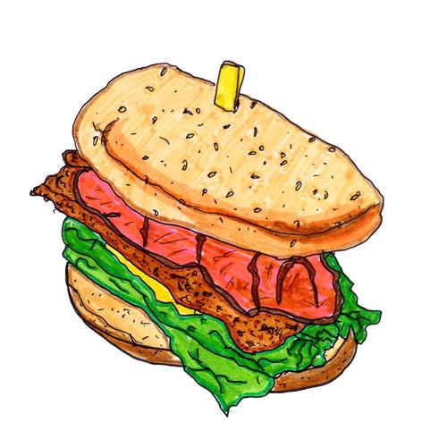 Transparent food . Burger clipart frame