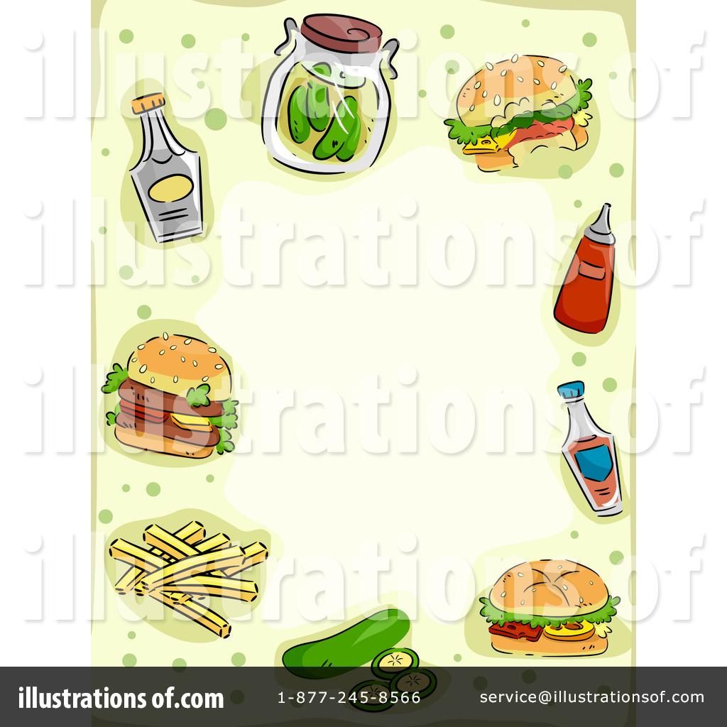 Fast food illustration by. Burger clipart frame
