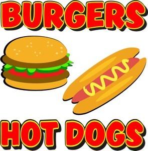 Burgers hot dogs concession. Burger clipart hambuger