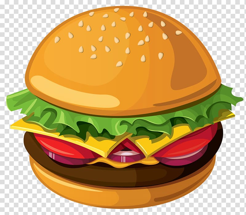 Burger clipart hamburger. Fast food cheeseburger breakfast