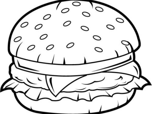 Free drawn download clip. Burger clipart line drawing