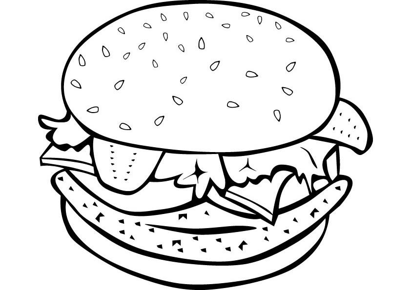 Cheeseburger clipart black and white. Burger drawing at getdrawings