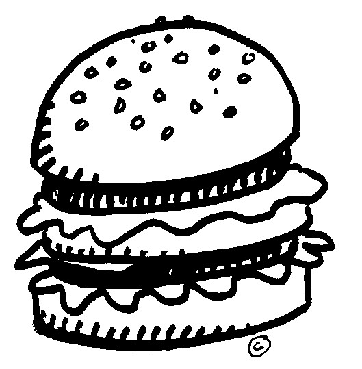 Burger clipart line drawing. Free burgers cliparts download