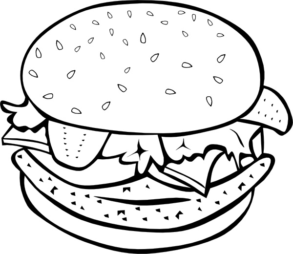 Burrito clipart svg. Chicken burger b and