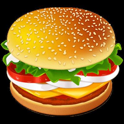 Burger clipart logo. Big mac pencil and