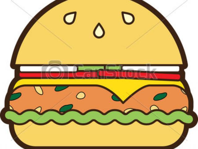 burger clipart logo