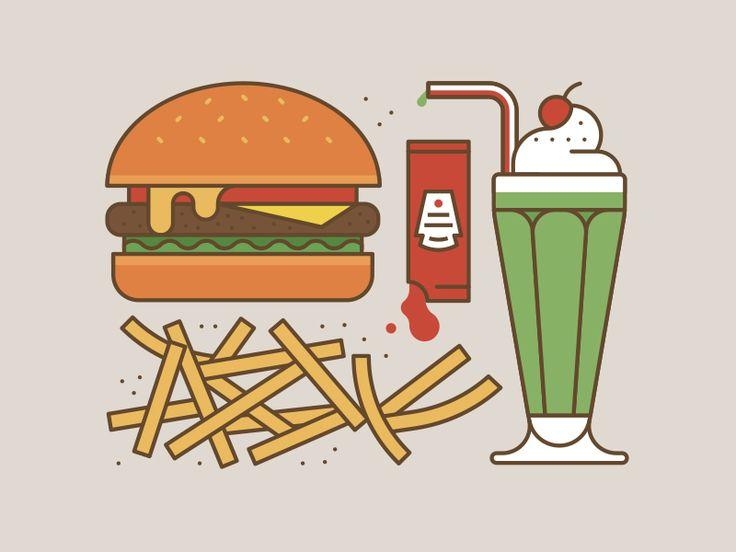 burger clipart milkshake